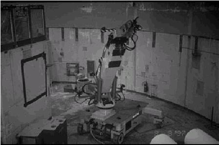 View of Rosie With jackhammer mounted to boom