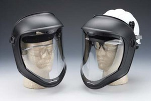 Dummies with faceshield having polycarbonate visor