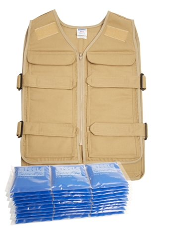 Steele vest with thermo strips