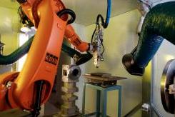 IPG/Kuka 16kW fibre laser robotic remote cutting system image