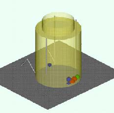3D Representation of radiaiton sources