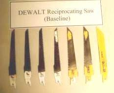 DEWALT reciprocating saw used blades.