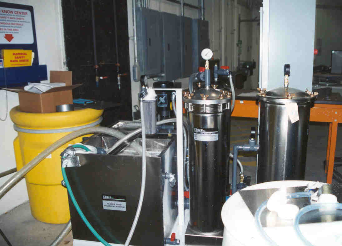 EBBCO Closed-loop filtration system for filtering wastewater.