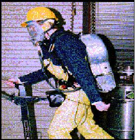 Worker wearing the Advanced Worker Protection System
